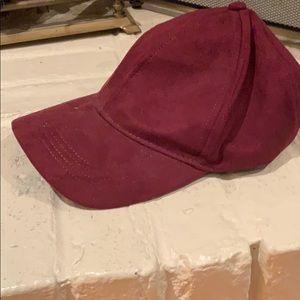 Maroon suede dad hat